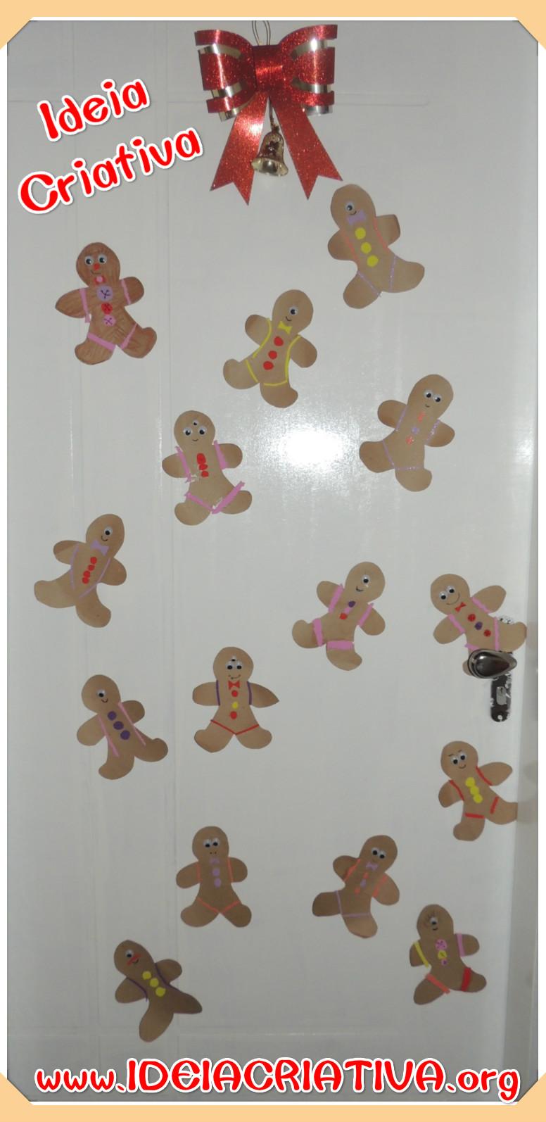 Decoração de porta para o Natal com Produção das Crianças