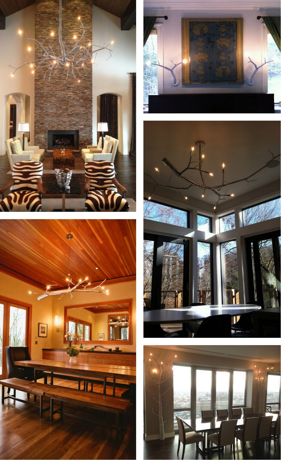 clockwise from top Centered Branch Chandelier / custom wall sconces in Milwaukee / Centered Branch Chandelier in Mt. Airy PA / custom wall-mount fixtures ... & The Well-Appointed Catwalk: newGROWTH by CP Lighting azcodes.com