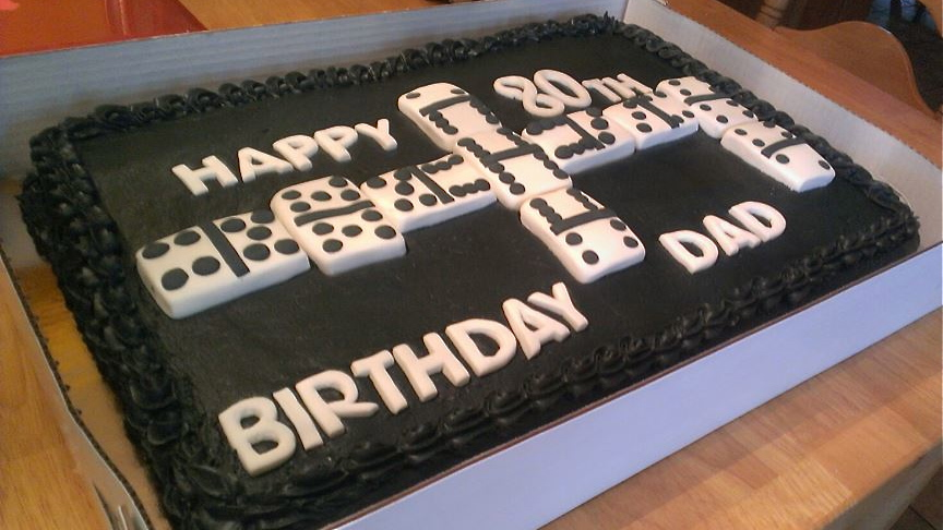PieceACake Domino Birthday Cake