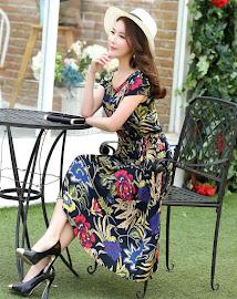 New 2016 13-Design Spring Plus Size Short Sleeve Floral Print Rayon Silk Cotton Dress