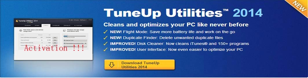 TuneUp Utilities 2014 with carck keygen serial number
