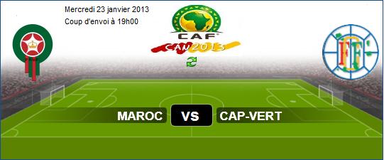 Voir source directe maroc vs cap vert live en direct can 2013 - Regarder la coupe d afrique en direct ...