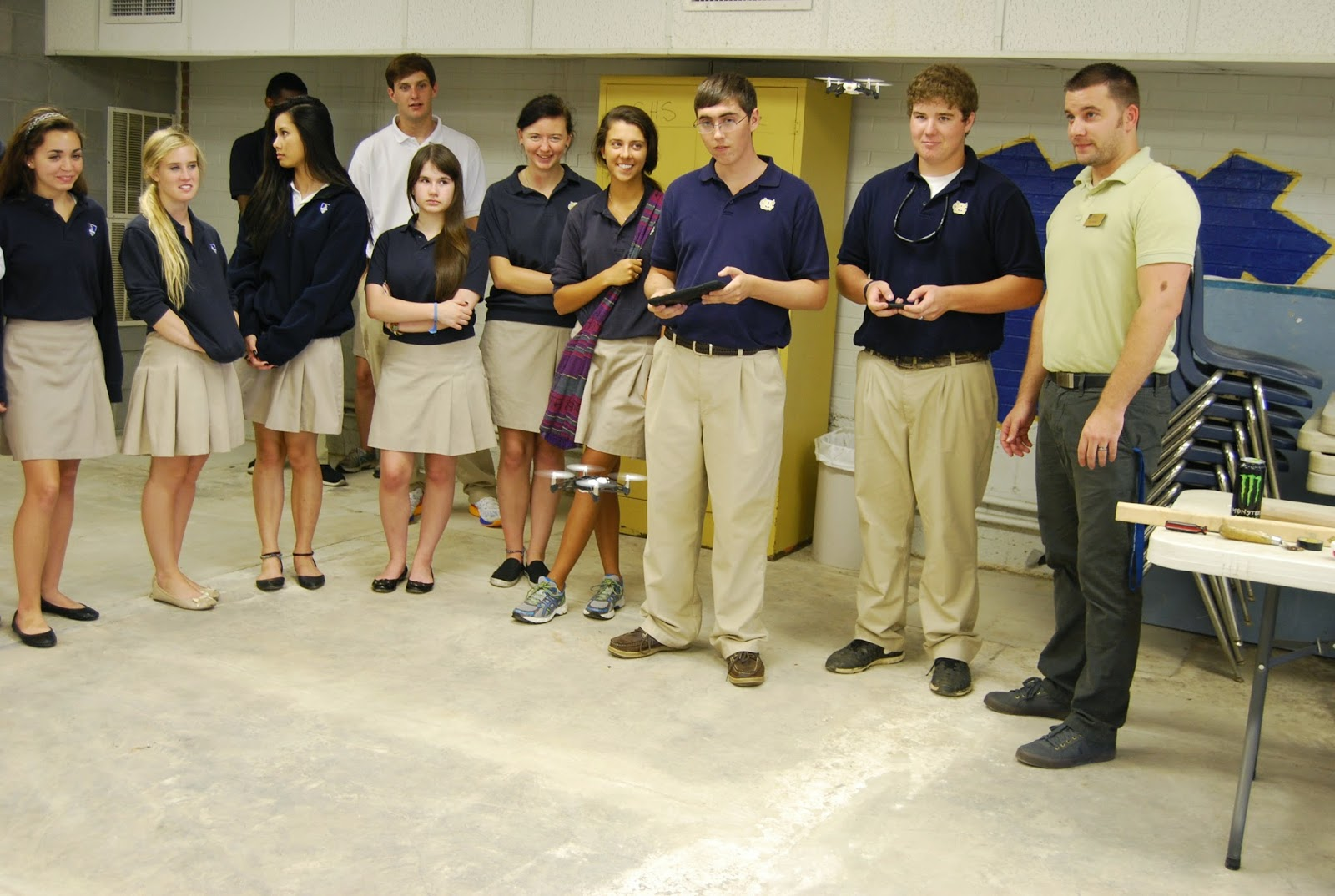 THE MONTGOMERY CATHOLIC ENGINEERING CLASS LEARNS HOW ACCELEROMETERS AND GYROSCOPES CAN BE USED IN ROBOTICS. 1