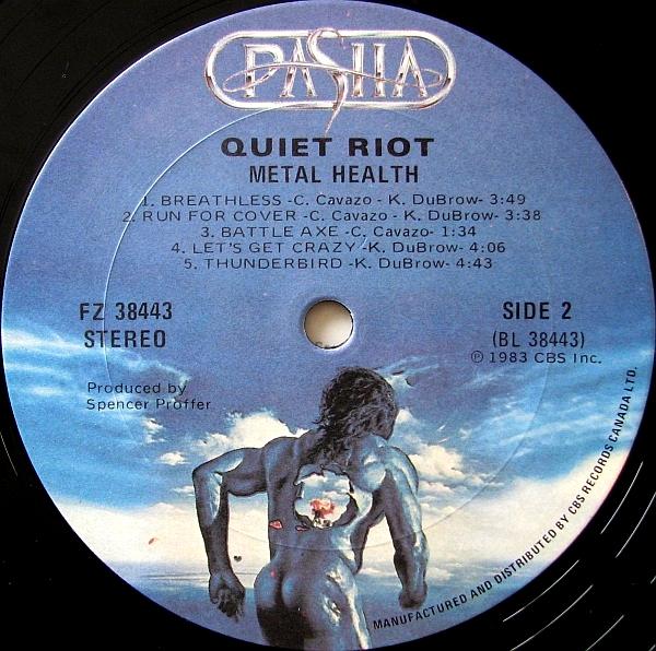 Los 90 En Mp3 Ii Quiet Riot Metal Health Lp 1983