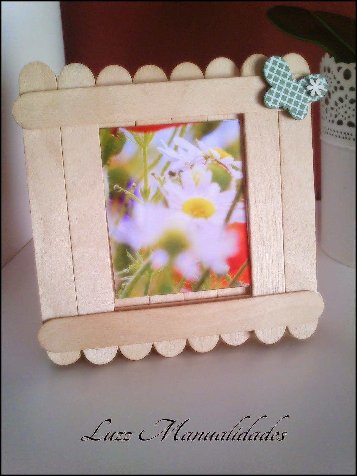 Luz manualidades manualidades para ni os marco de fotos - Manualidades con madera faciles ...