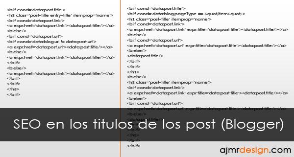 SEO en los titulos de los post (Blogger)