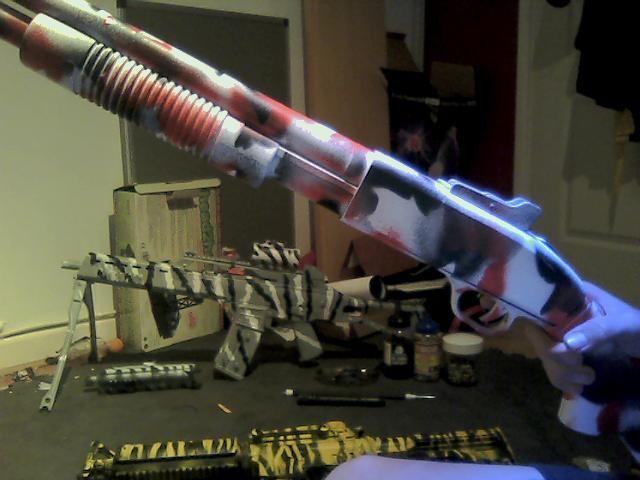 airsoft gun reviews custom camo paint jobs