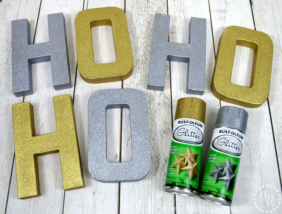 Ho ho ho 3d sign the scrap shoppe for Spray glitter for crafts