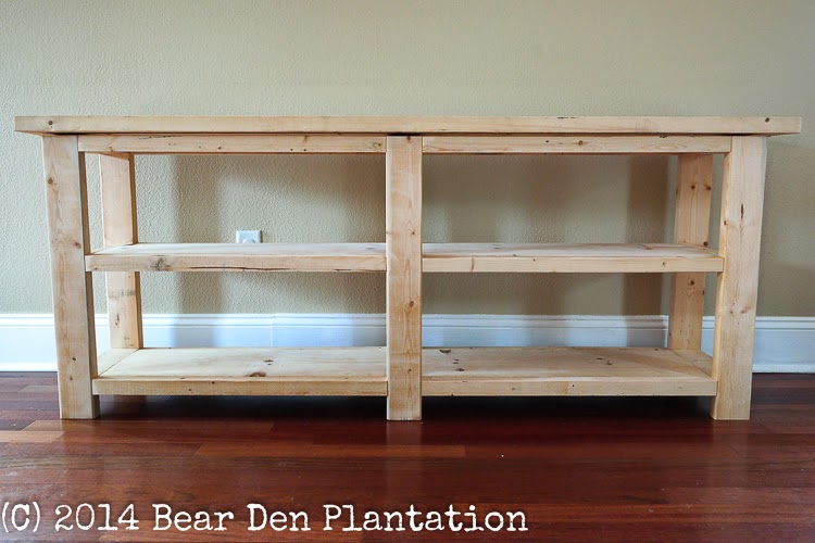 Ana White X-Console Table built by Bear Den Plantation