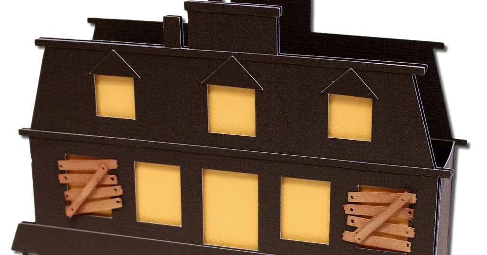 Bits Of Paper Haunted House Gift Box