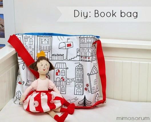 Cómo hacer  una bolsa para libros. Diy: book bag