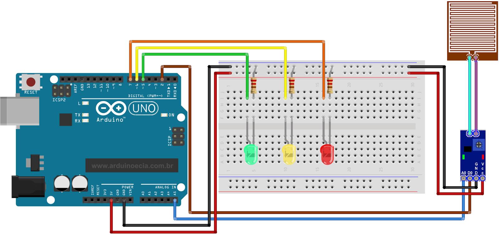 circuits4you.com: Interfacing a rain sensor to the Arduino