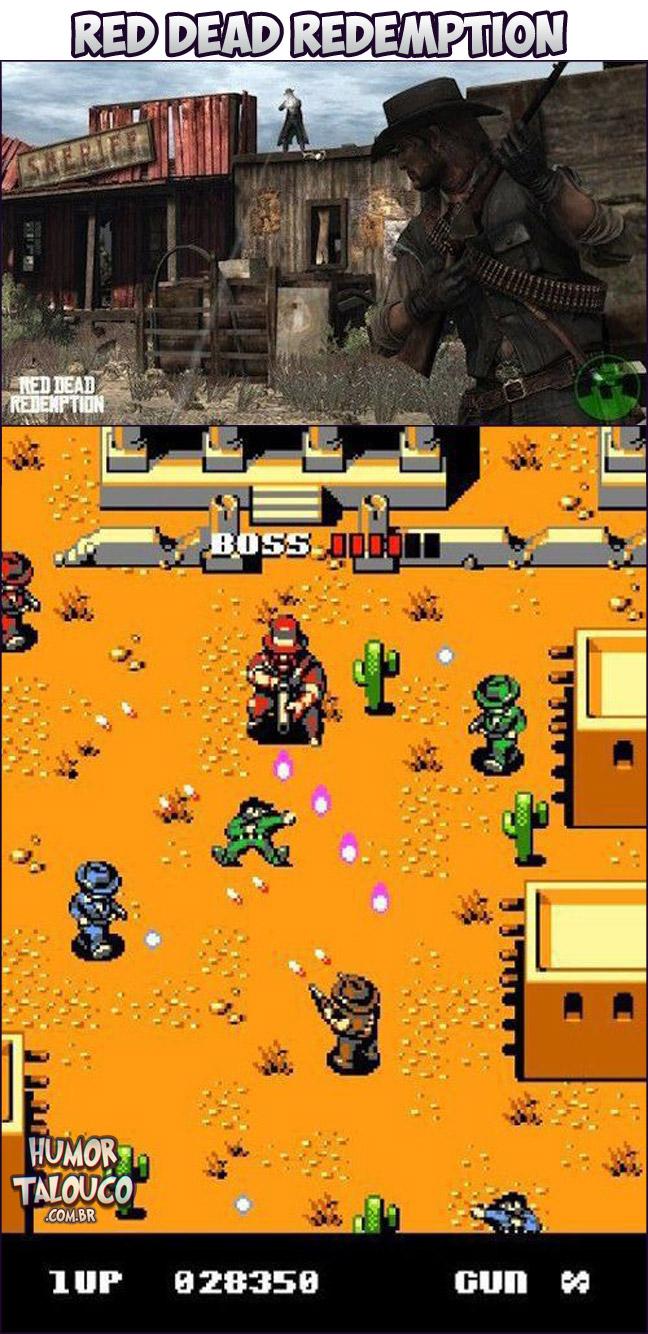Games Atuais com Gráficos de Super Nintendo - Red Dead Redemption