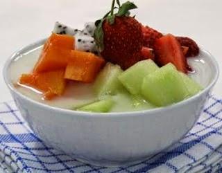 cara membuat sop buah, es buah, es campur, puding buah, sop buah segar