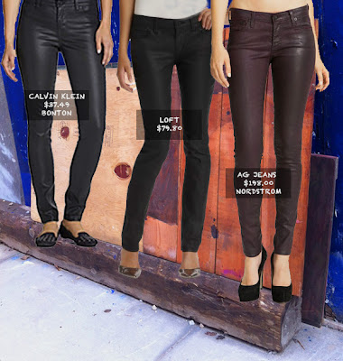 Chic coated jeans to fit every budget by CK, LOFT & AG Jeans featured on shopalicious.com