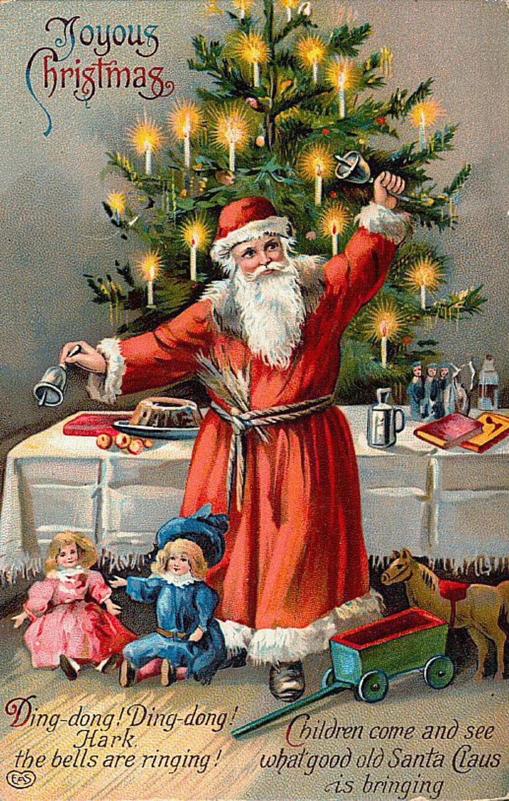 Cartes postales anciennes: Carte postale ancienne Père Noël