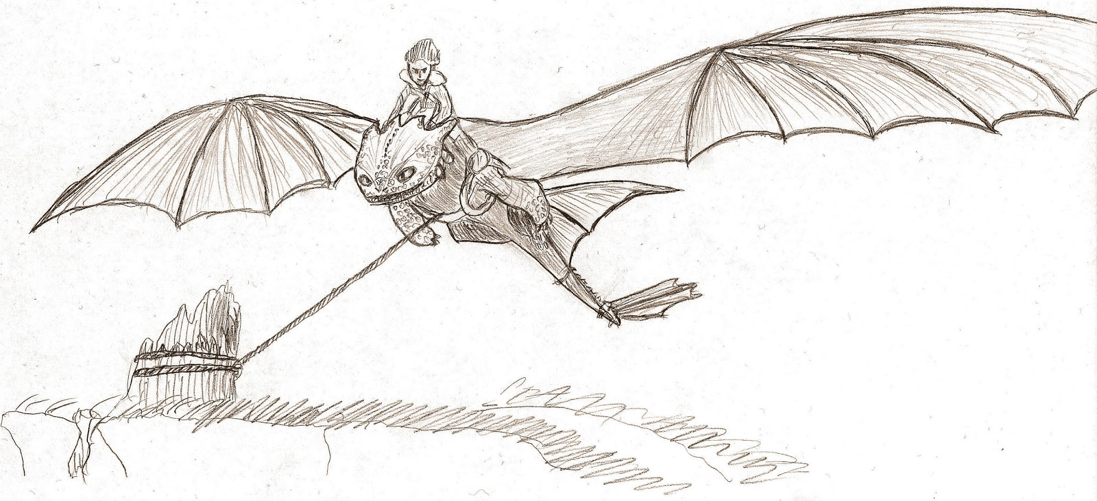 Toothless the Nightfury: Addy's drawings