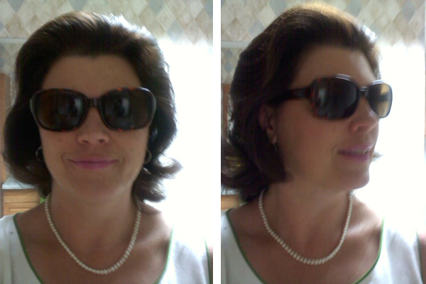 Attempt at achieving Jackie Kennedy's hair