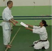 Consegna 4° dan da Maestro Sugiyama