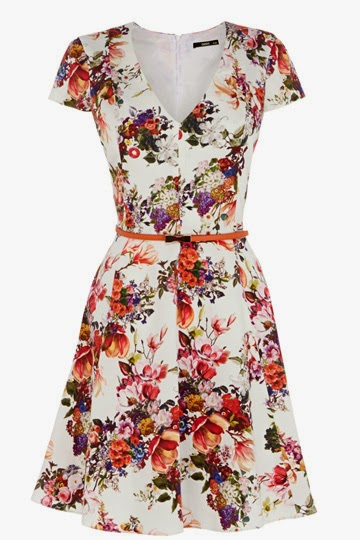 oasis flower dress
