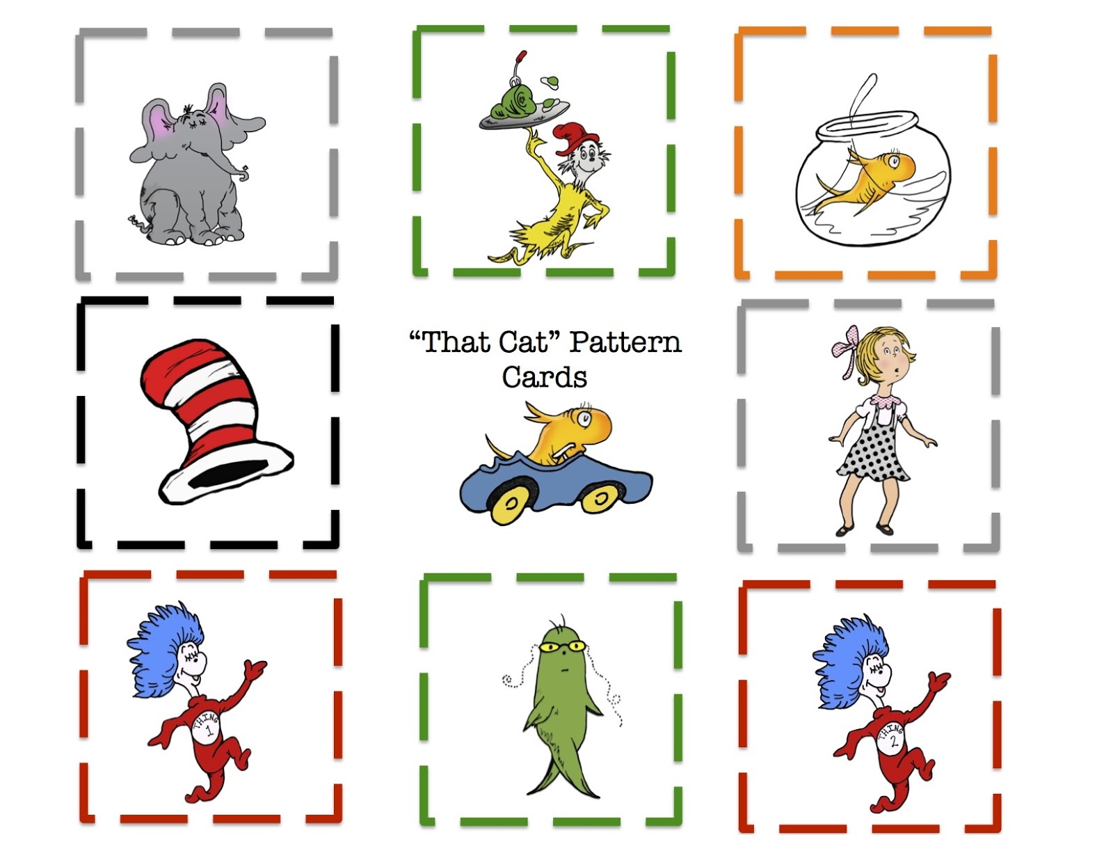 It is a photo of Amazing Dr Seuss Printable Activities