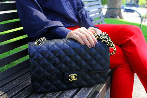 Black Chanel Maxi Bag