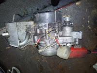 Silnik Babetta zdemontowany