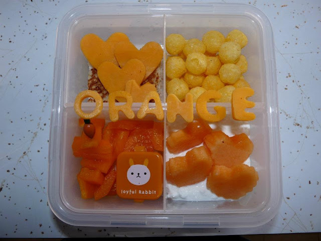 orange bento lunch