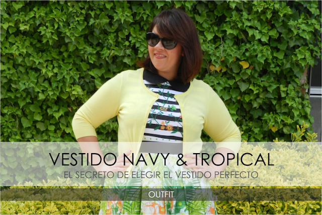 Vestido Navy & Tropical · Outfit