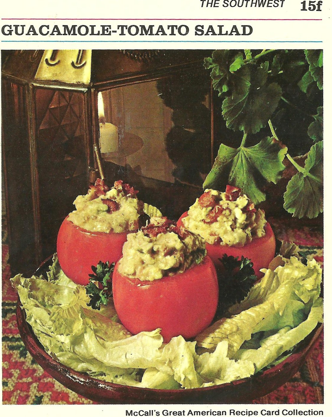 Bad and ugly of retro food this sundays chosen ones recipe cards 6 im hard pressed to find someone who will eat guacamole by the spoonful out of a hollowed tomato forumfinder Choice Image