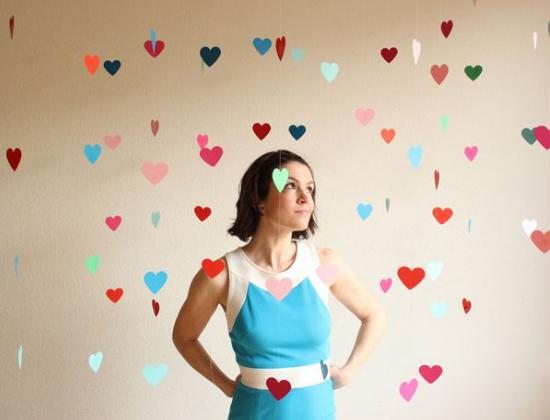 wedding backdrops, paper hearts, decorazioni matrimonio