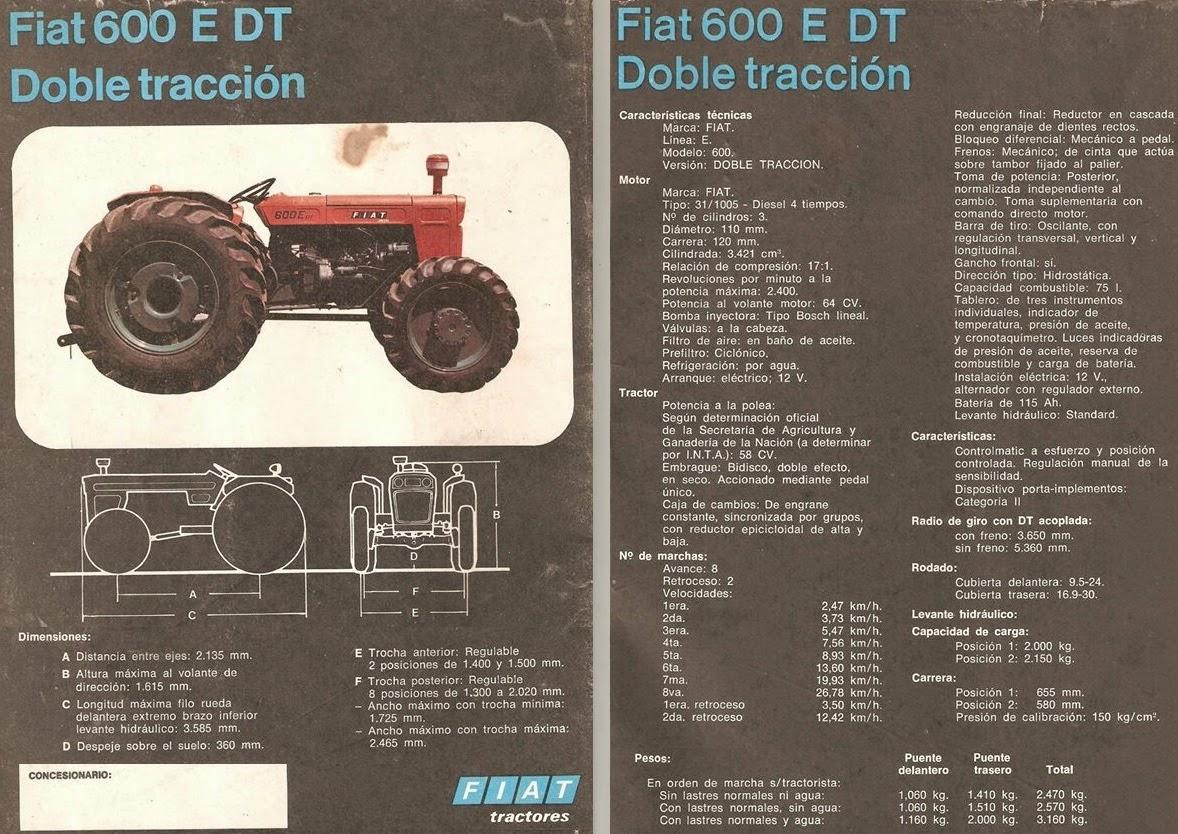 pesados argentinos fiat 600 e e dt f rh pesadosargentinos blogspot com Fiat Tractor Italy Fiat Ventures