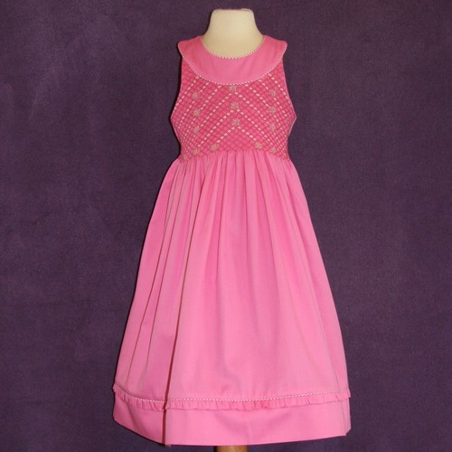 Pink smocked dresses for spring