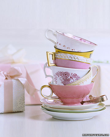 We came across these great ideas for a tea party themed bridal shower on