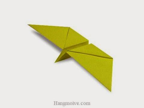 Cách gấp, xếp con bướm bay bằng giấy origami - Video hướng dẫn xếp hình - How to make a Flapping Butterfly