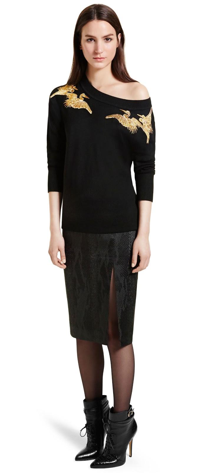 Altuzarra for Target crane swatshirt and jacquard pencil skirt