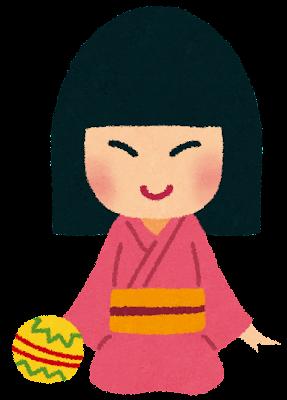 座敷童子のイラスト(妖怪)