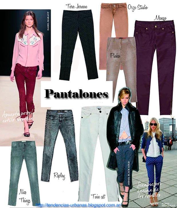 pantalones de moda mujer invierno 2013
