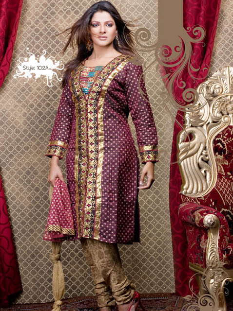 Churidar-Style-Salwar-kameez-suite