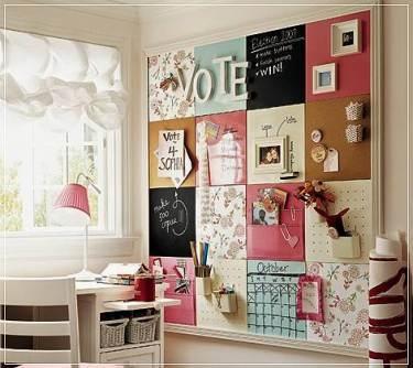Manualidades decoraci n pintura panel de corcho - Habitaciones juveniles con encanto ...