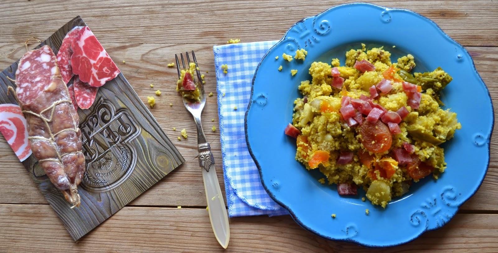 ricetta couscous con verdure salame piacentino