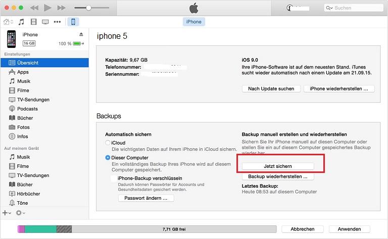 Как сделать backup в iphone 569