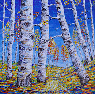 original aspen tree painting