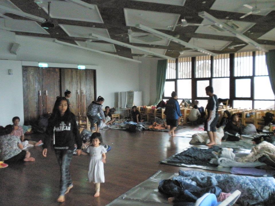 那瑪夏民權國小的教室,在六月份這波豪大雨中,為當地居民提供避災的場域。(圖由民權國小提供)