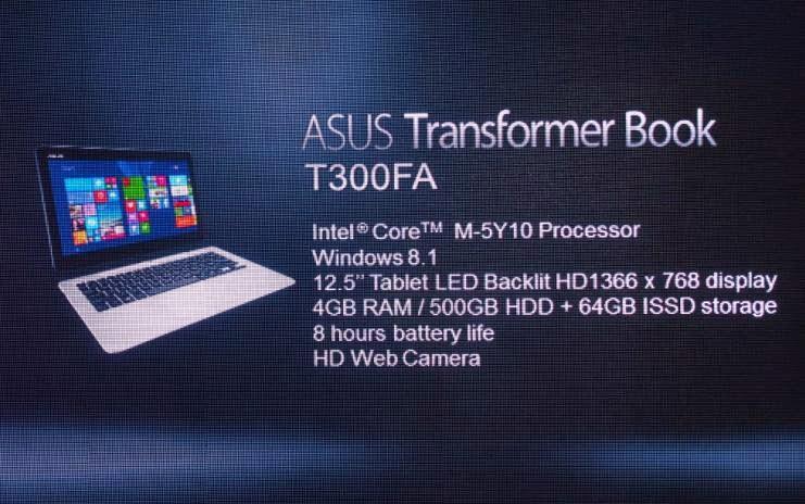 ASUS Unveiled Transformer Book T300FA, 2-in-1 Intel Core M Windows Device