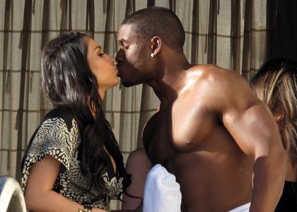 Kardashian on Kim Kardashian Boyfriend Reggie Bush 2012   Hollywood All Stars