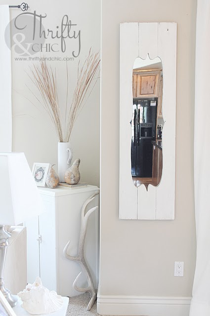 shabby chic door mirror