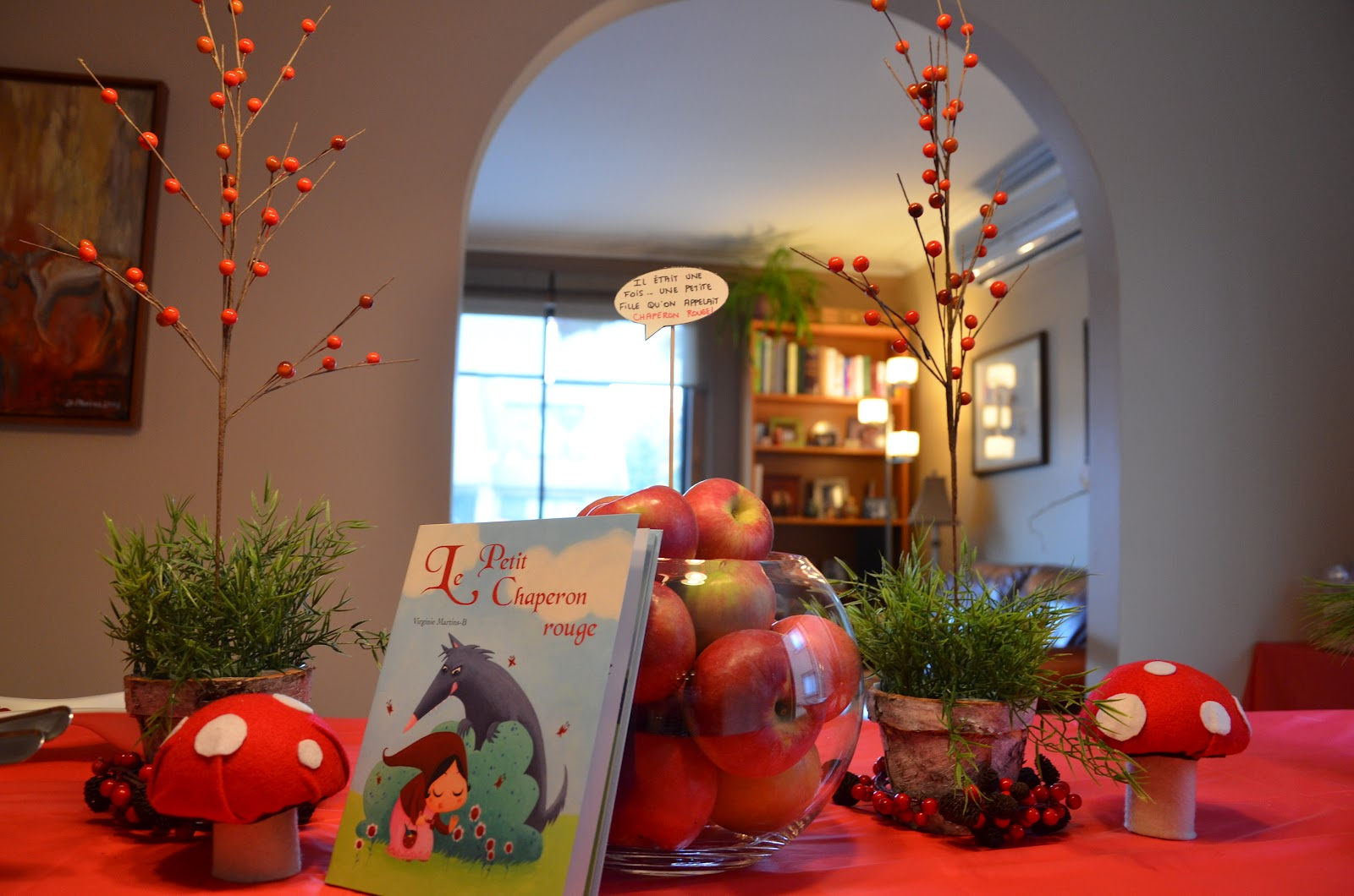 olga markiza little red riding hood theme party for kids