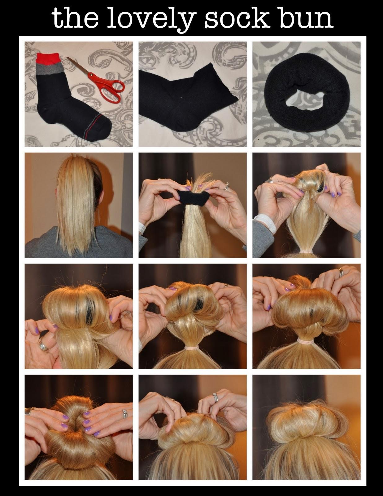 Как сделать плюшку на волосы