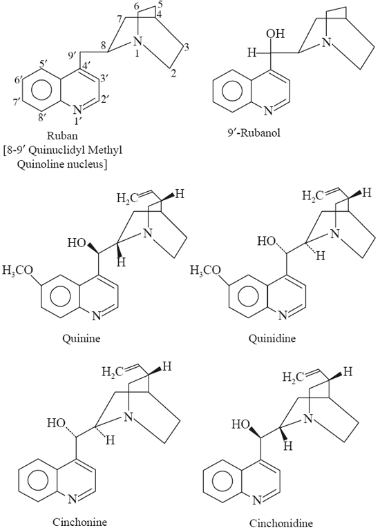 Basic Structures of Cinchona Alkaloids